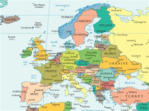 map of with cities map of europe with cities and towns arabcooking me