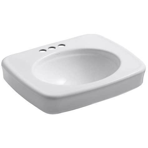 kohler bancroft pedestal sink kohler bancroft 5 in vitreous china pedestal sink basin
