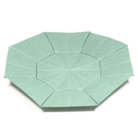 How To Make A Paper Octagon - how to make an octagon origami dish page 1