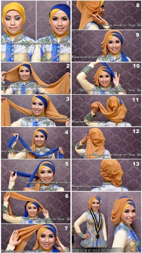 tutorial hijab syar i buat wisuda 7 tutorial gaya jilbab ini memang butuh sedikit usaha