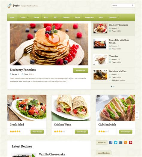 wordpress themes free food blog 50 best restaurant cafe wordpress themes web designer hub