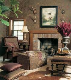 design interior country brown fireplace warm lounge