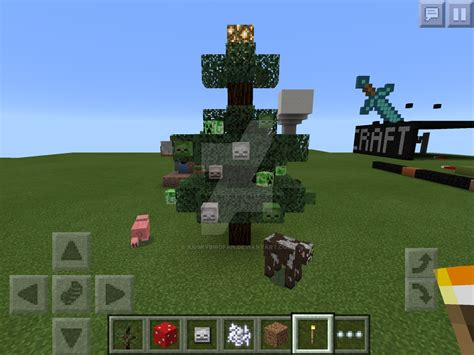 minecraft pe christmas tree by angrybirdfan on deviantart