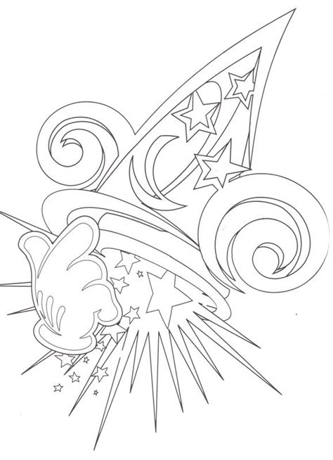 mickey mouse wizard coloring pages hollywood studios the sorcerer s hat coloring page