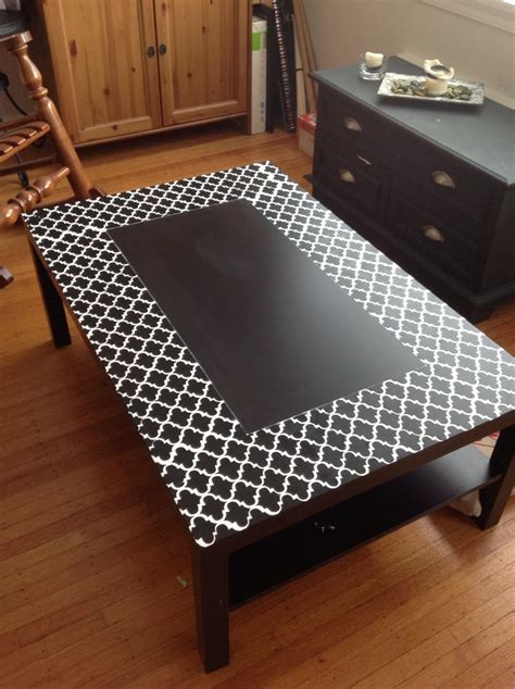 ikea lack coffee table hack a stencilled lack coffee table ikea hackers ikea hackers