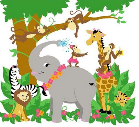 Kids Bedroom Painting Ideas jungle hula party from paint by number wall murals