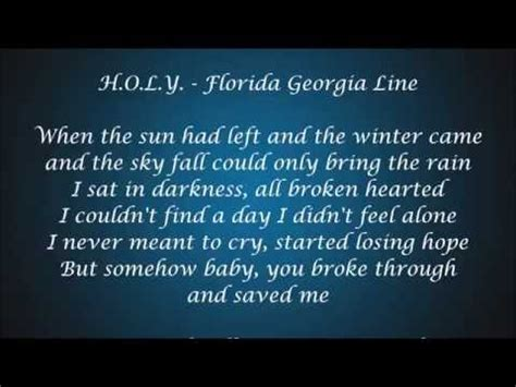 y lyrics h o l y florida line lyrics