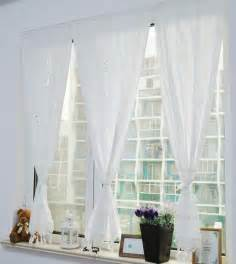 Cotton Kitchen Curtains White Cotton Pierced Crochet Lace Handmade Kitchen Curtains For Living Room Bedroom Fluid Blinds