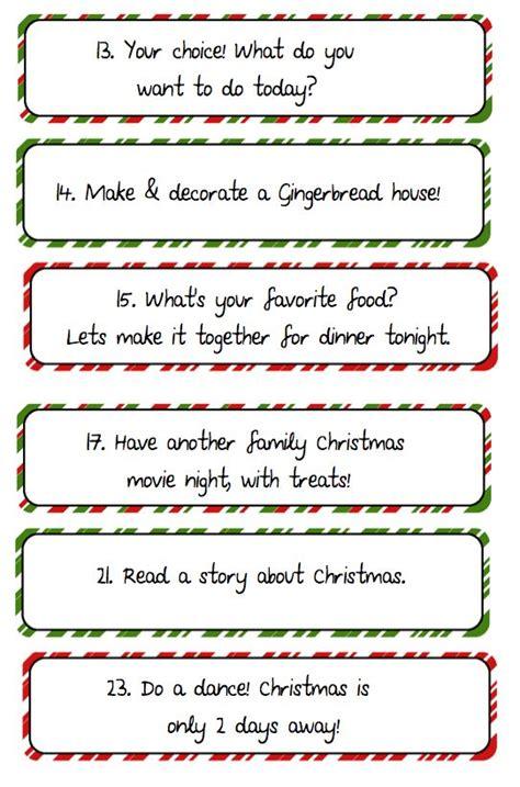 printable advent calendar ideas 1000 ideas about advent calendar fillers on pinterest