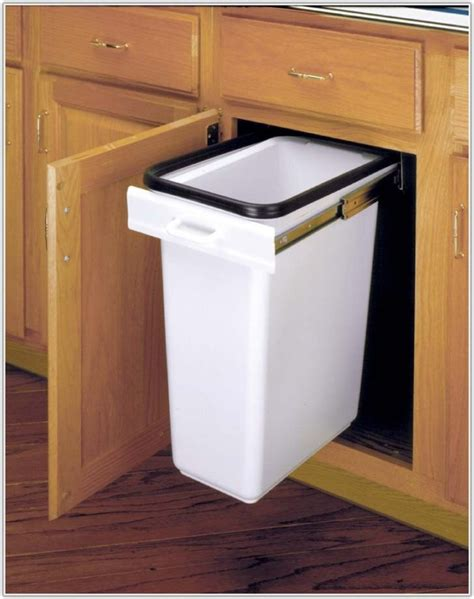 the cabinet door trash can cabinet door mounted trash can with lid cabinet home