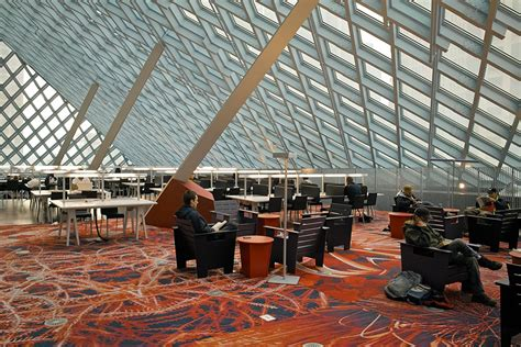 Seattle Library Interior by Seattle Library Journal Brian
