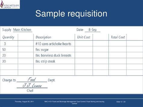 pricing sheet template food storing and issuing control