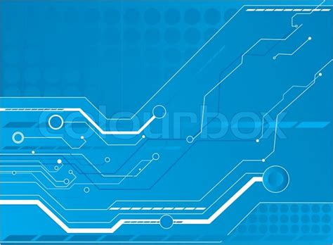 wallpaper laptop vektor blue circuit board background stock vector colourbox