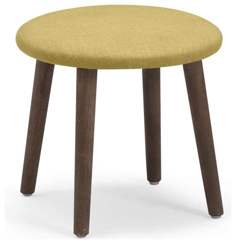 Mustard Colored Stool by Edgewater Stool Mustard Midcentury Ottomans And Cubes By Zuo Modern