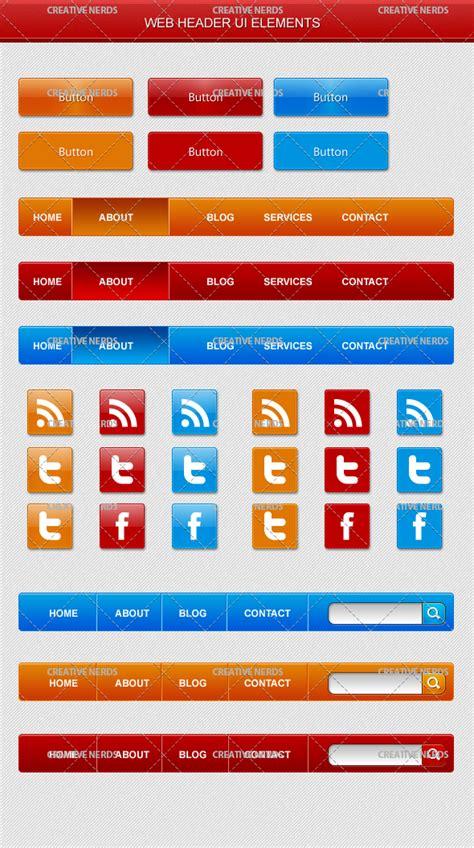 header design psd file web ui header psd elements premium creative nerds