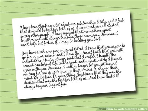 Closing Goodbye Letter how to write goodbye letters with sle letters wikihow