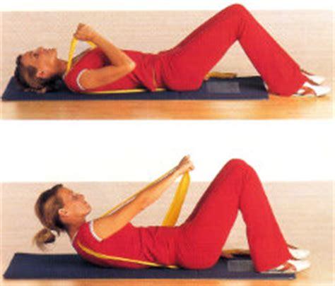ginnastica per addominali in casa esercizi di ginnastica in casa con l elastico esercizi