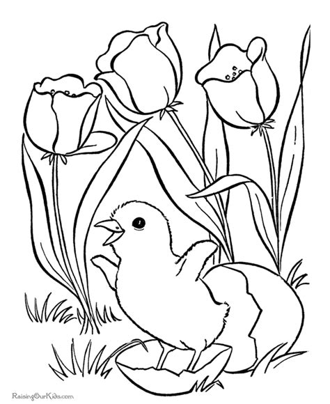 free printable easter flowers easter flower coloring pages 001