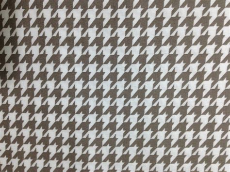 brown houndstooth pattern greyish brown houndstooth fabric 1 yard