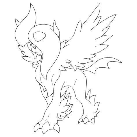pokemon coloring pages mega camerupt 88 pokemon coloring pages absol free absol lineart