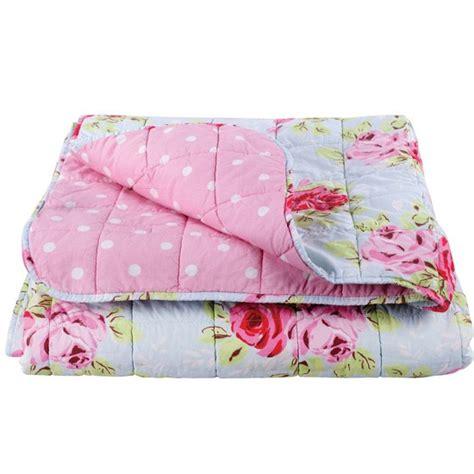 rose bedspread from cath kidston vintage bedroom