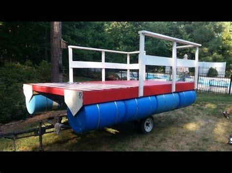how to build a homemade boat homemade pontoon boat 4 youtube hammocraft pinterest