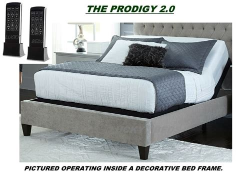 leggett platt prodigy 2 0 split dual king adjustable bed with mattresses ebay