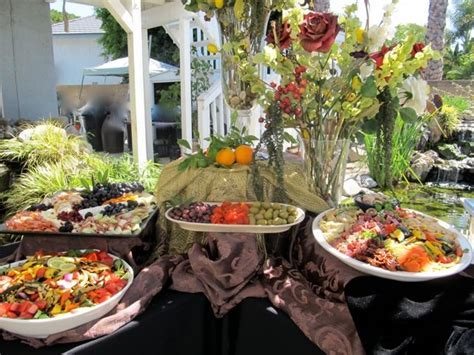 party buffet table decorating ideas   On the patio
