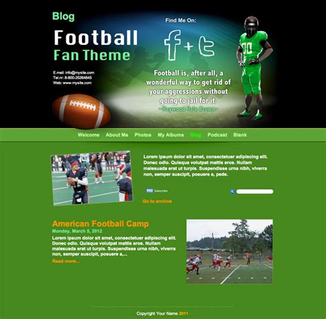 theme blog football iweb on os x mountain lion and new released themes