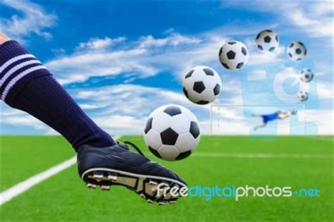 Soccer Kicking Net foot kicking soccer stock photo royalty free image