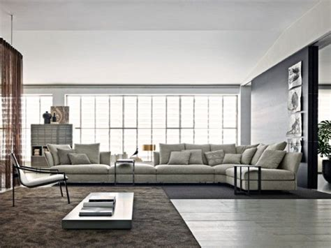 tres grand canape tr 232 s grand canap 233 d angle en tissu gris clair salon