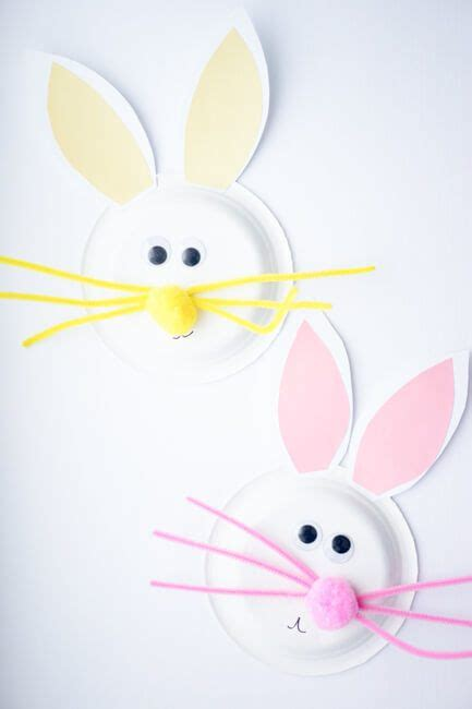 Easter Bunny Paper Plate Craft - 21 and creative easter crafts for homelovr