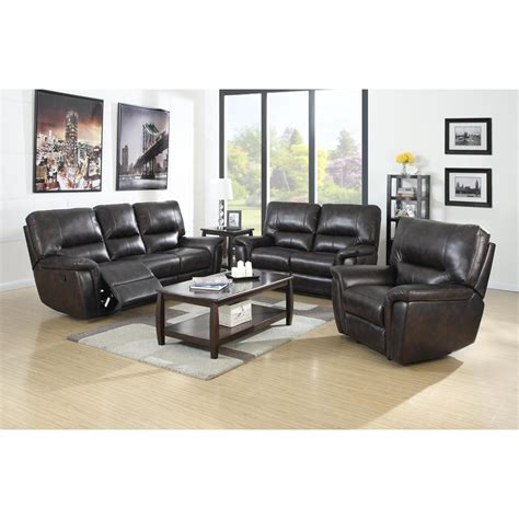 Galaxy Brown Leather Air Reclining Power Sofa W Reclining Leather Power Reclining Sofa Set
