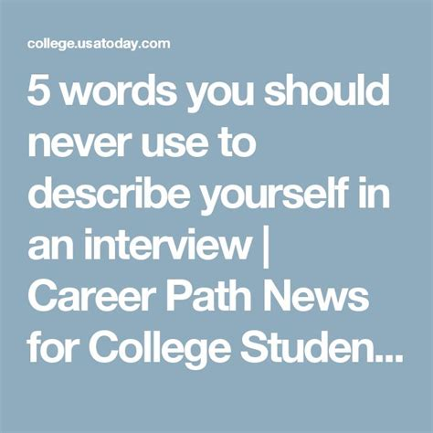 Describe Yourself In 5 Sentences Mba by Best 25 College Ideas On