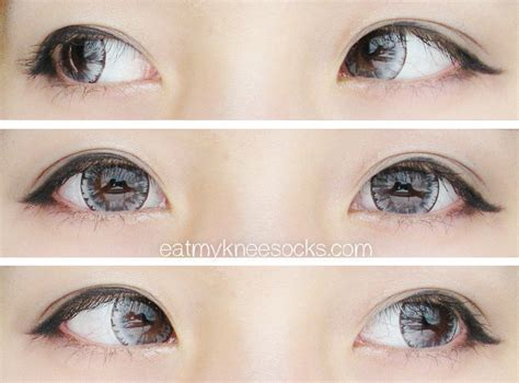 light grey contact lenses review eos ice gray circle lenses from pinkyparadise
