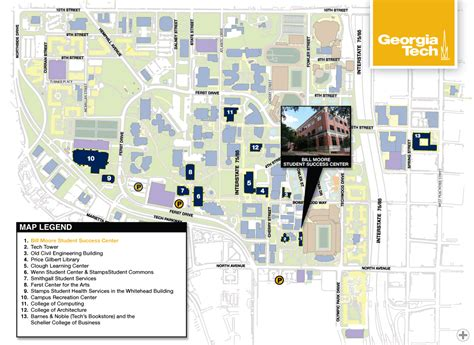 Ga Tech Calendar Atlanta Map Pumas Afputra