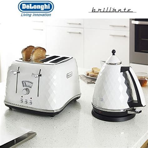 Delonghi Toaster Brillante delonghi brillante 4 slice white toaster ctj4003w around