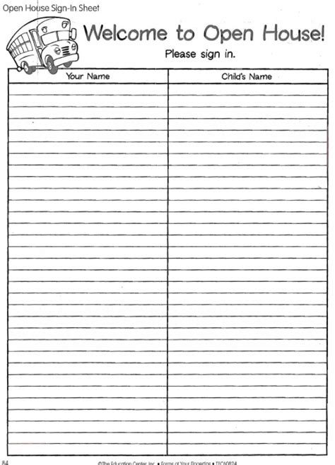open house sign in sheet free printable worksheets