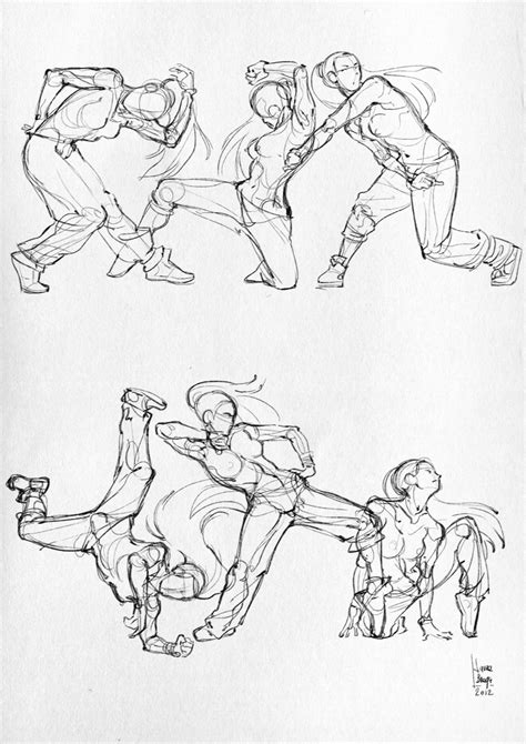 Sketches Poses by Braga Anatomical Studies And Moleskine Sketches