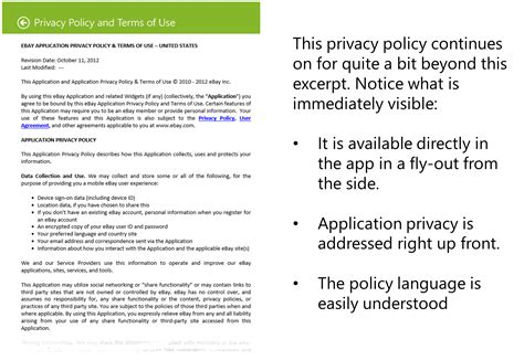 Traits Of A Good Windows Store App Privacy Policy Pete Brown S 10rem Net App Store Privacy Policy Template