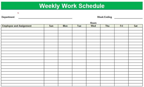 best work plan template weekly work schedule template peerpex