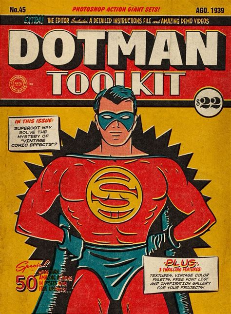 dotman toolkit vintage comic effects actions  creative