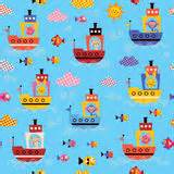 cute animals in boats kids design elements set stock cute sea animals stock vector illustration of isolated