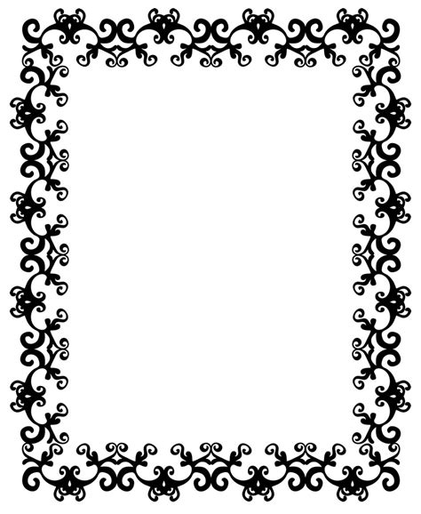 pattern border drawing african border designs cliparts co