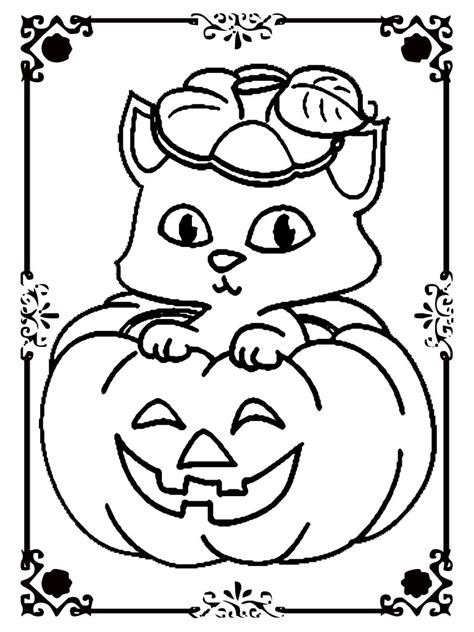 realistic halloween coloring pages halloween cat and pumpkin coloring pages realistic