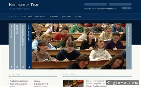free educational website templates html and css 125 free high quality x html and css web layout