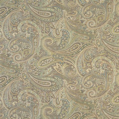 blue green upholstery fabric brown blue and green paisley contemporary upholstery