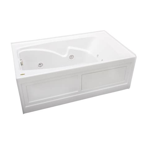 Lowes Whirlpool Bathtubs by Shop Cetra White Acrylic Rectangular Whirlpool Tub
