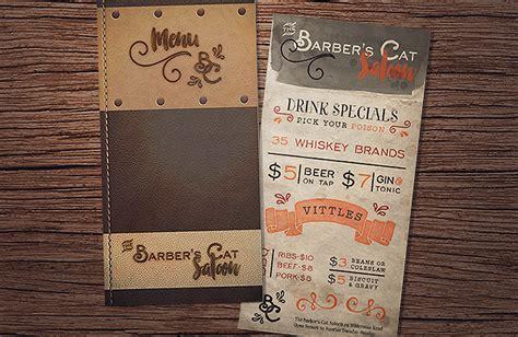 design menu tutorial create a beautiful leather style saloon menu 171 design cuts