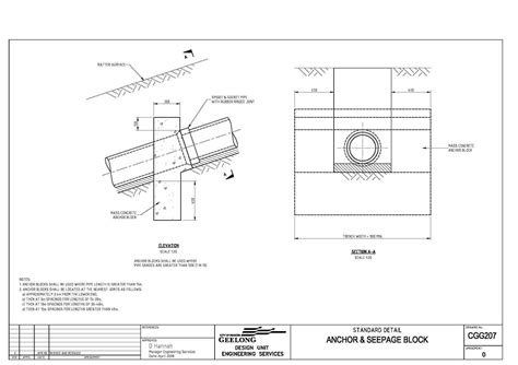 design criteria civil engineering civil engineering standard drawings cgg207 anchor and